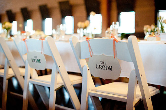 the bride the groom chair | via bride and groom chair signs https://emmalinebride.com/decor/bride-and-groom-chairs/