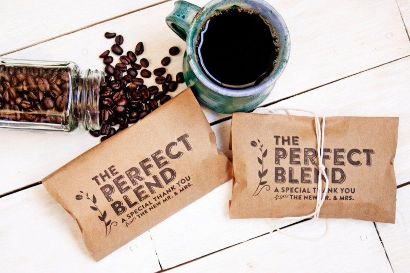 the perfect blend coffee favors