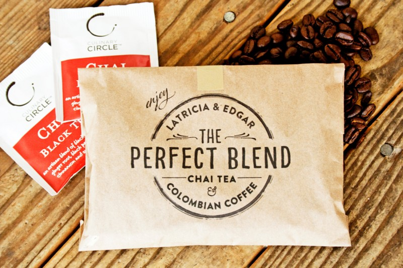 the perfect blend tea and coffee favors