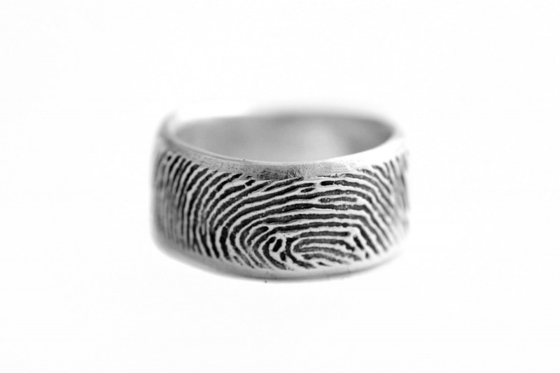 thumbprint wedding ring