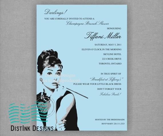 tiffanys bridal shower theme invitations