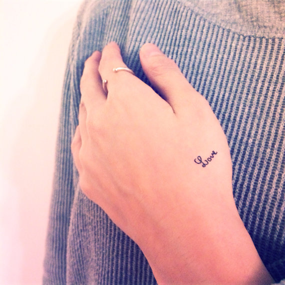 tiny love temporary wedding tattoos