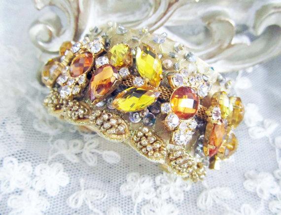 topaz bridal cuff bracelets