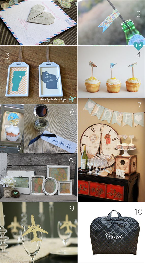 Planning a Bridal Shower - Travel Theme