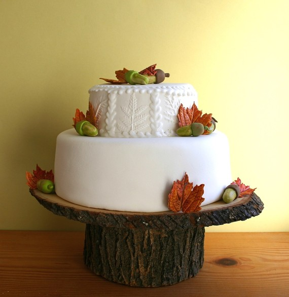 handmade fall cake stand