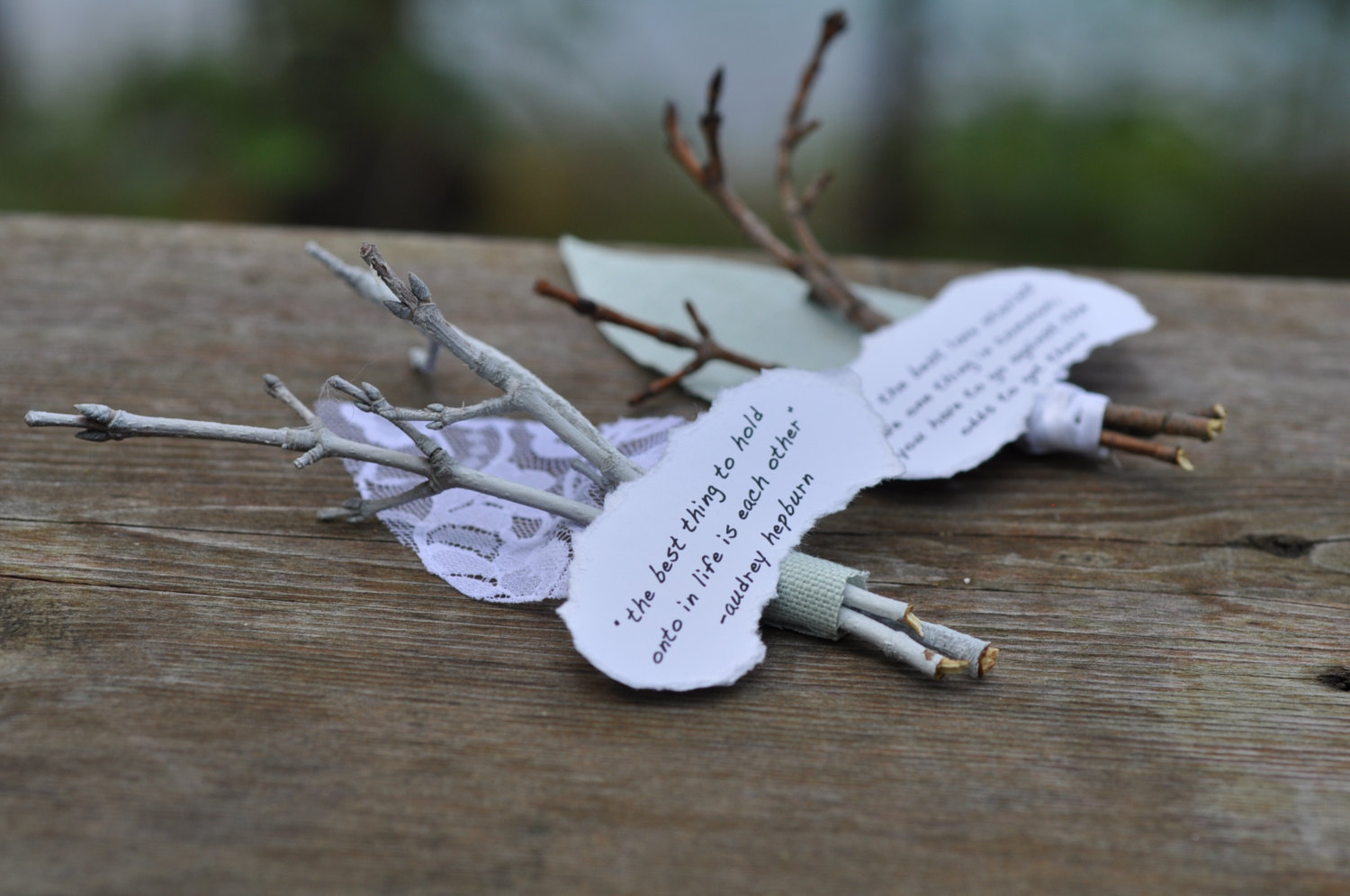 twig boutonniere by lace and twig | Nature Inspired Wedding Ideas | http://wp.me/p1g0if-x0y