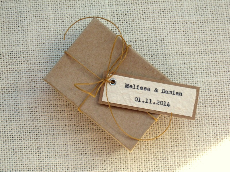 typed rustic chic favor tags by JoBlake | rustic chic wedding ideas