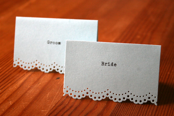 typewriter wedding place cards
