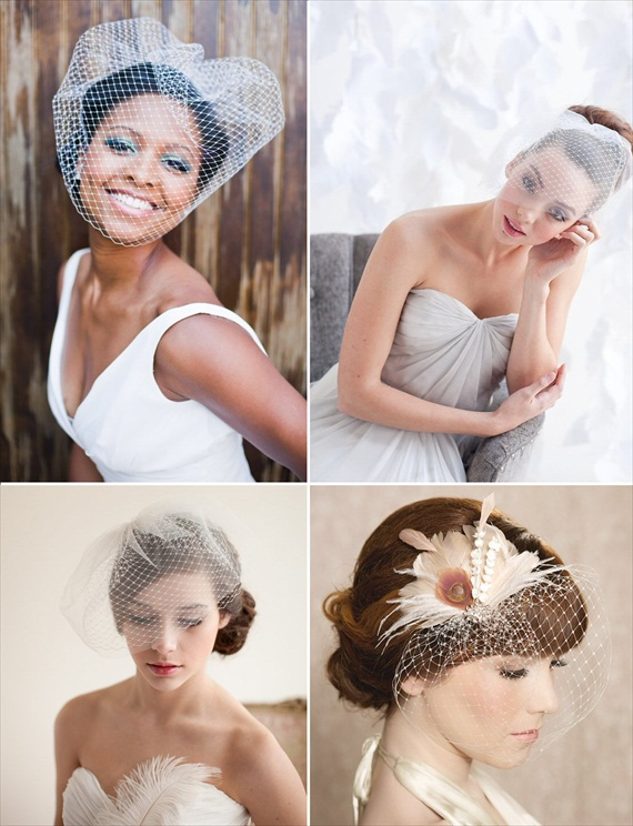 How to Wear a Birdcage Veil with Hair Up Hairstyles