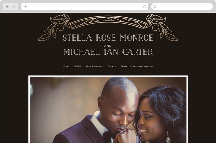 vintage antique wedding website