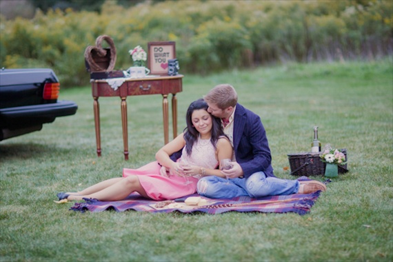 vintage engagement session - kristin lavoie phootgraphy