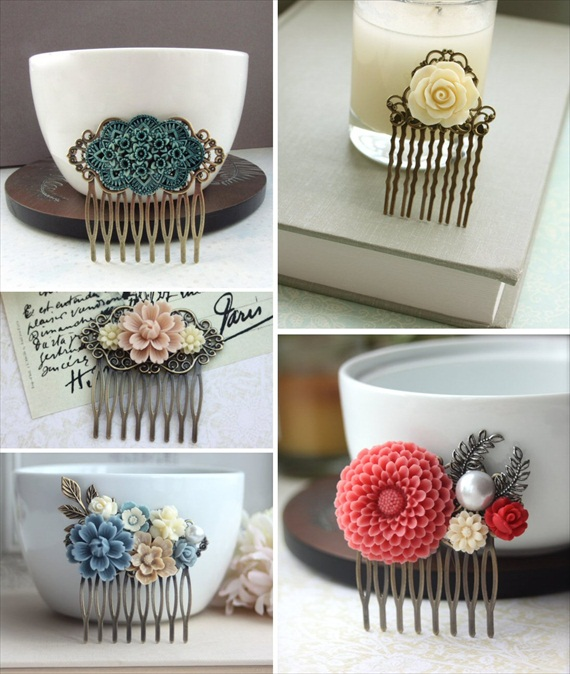 How to Wear a Hair Comb - vintage-inspired hair combs by Marolsha