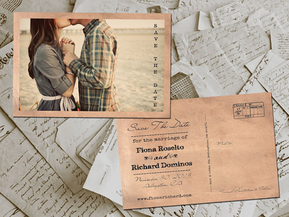 Vintage Inspired Save the Date Cards