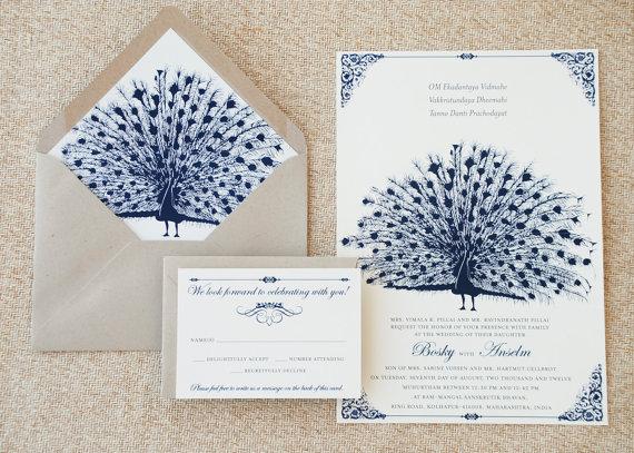 vintage peacock wedding invitation - 5 Creative Wedding Invitation Styles