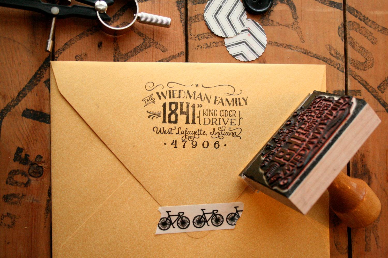Vintage Style Return Stamp