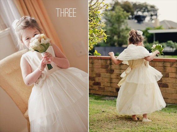 Cotton Flower Girl Dresses (by Olive & Fern, photo: Shot from the Heart, feature via EmmalineBride.com) #handmade #wedding
