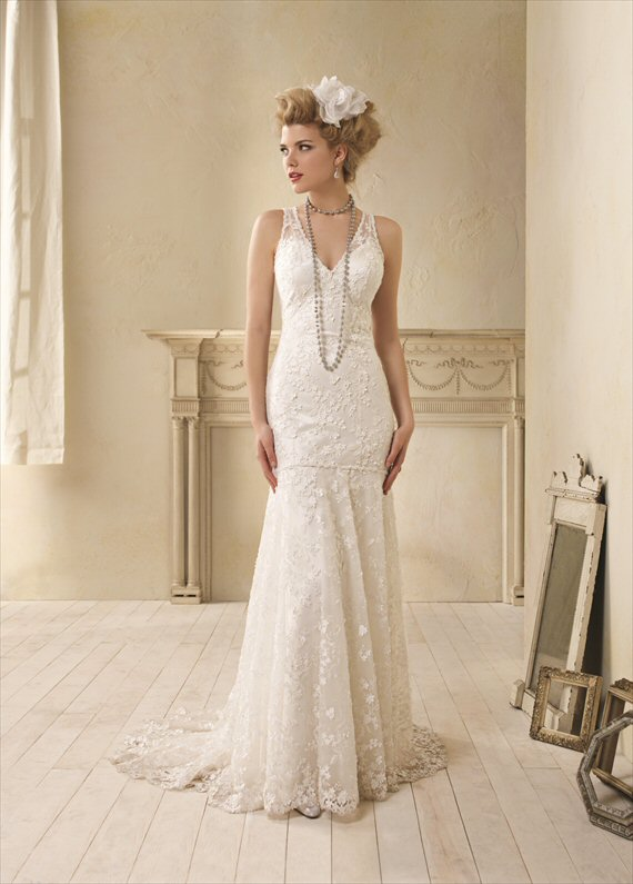 Vintage Inspired Wedding Gowns by the Alfred Angelo 2014 Collection - 1930s inspiration