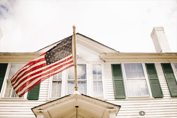 vintage wedding - image of american flag