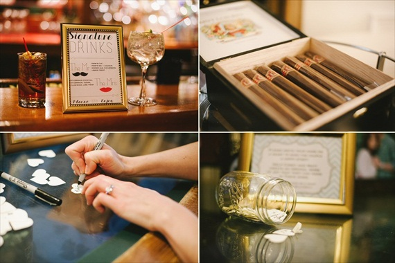 vintage wedding - image of signature drinks and cigars