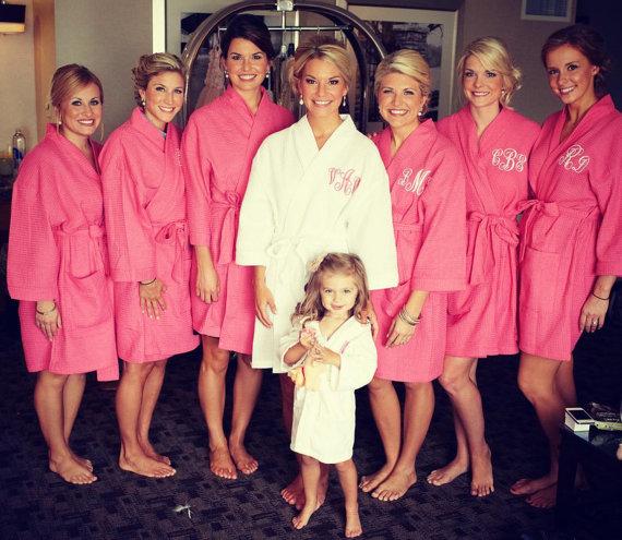 5 Secrets to Giving Bridesmaid Gifts (robe: memento)