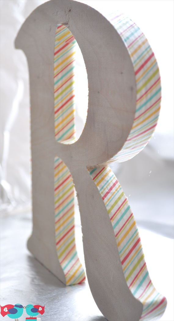 washi tape letter via DIY Washi Tape Ideas