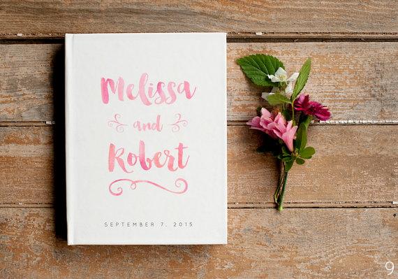 watercolor wedding guest book