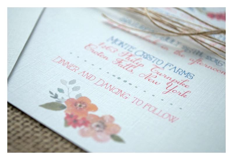 Boho wreath wedding invitation | https://emmalinebride.com/invites/boho-wreath-wedding-invitation/