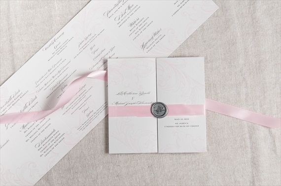 Wax Seal Invitations (by Paper Freckles) - How to Use Wax Letter Seals via EmmalineBride.com