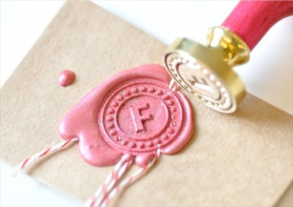 Wax Seal Kit (by Back to Zero) - How to Use Wax Letter Seals via EmmalineBride.com