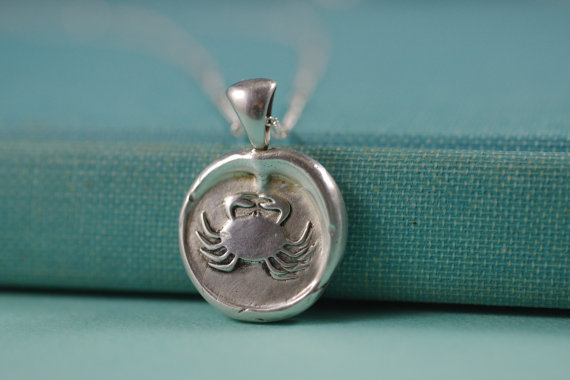 Wax Seal Necklaces for Beach Wedding (by By The Seashore Decor) - How to Use Wax Letter Seals via EmmalineBride.com
