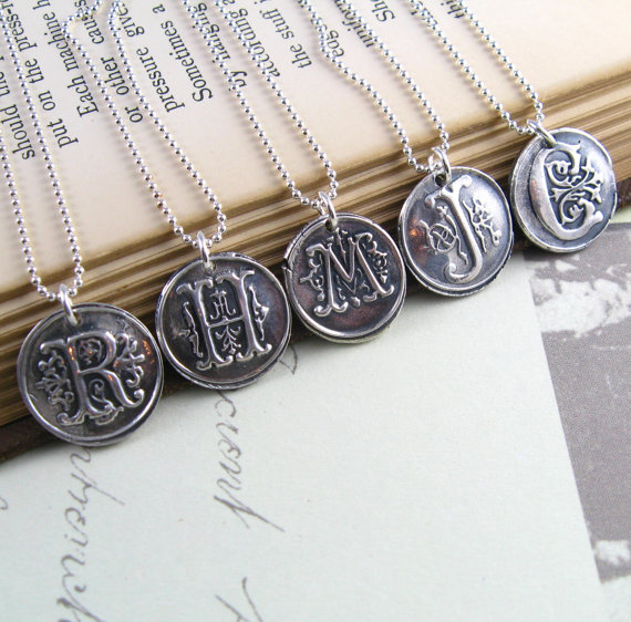 Wax Seal Necklace (by New Hope Beading) - How to Use Wax Letter Seals via EmmalineBride.com