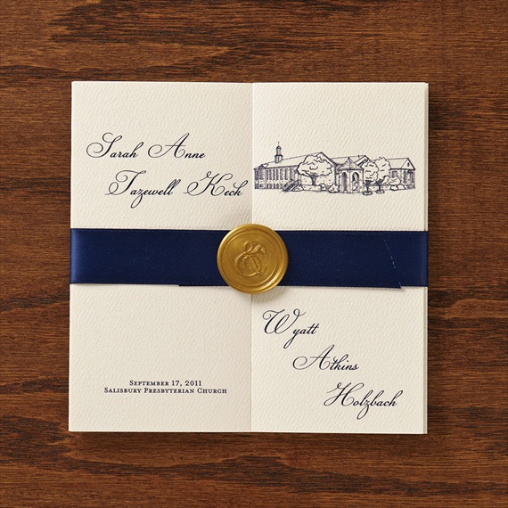 Wax Seals on Wedding Invitations (by Paper Freckles) - How to Use Wax Letter Seals via EmmalineBride.com