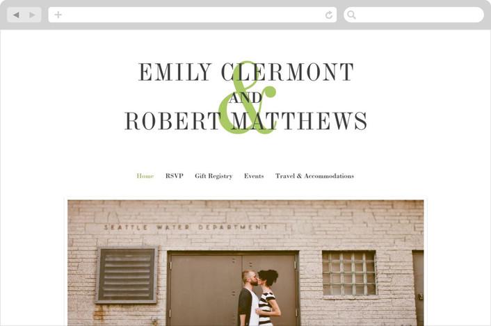 wed in type wedding website