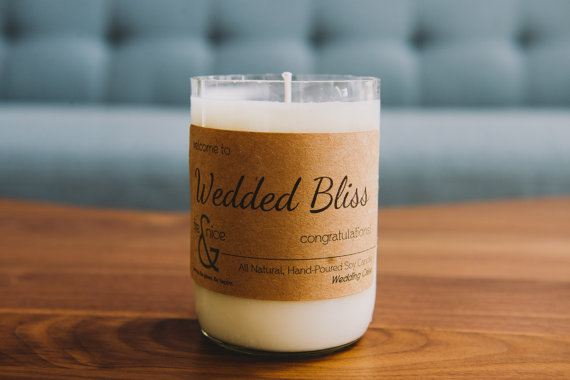 wedding gift ideas from a to z - wedded bliss candle by fire & nice