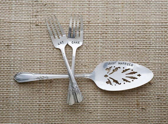 wedding cake server forks set via Top 10 Non Registry Wedding Gifts