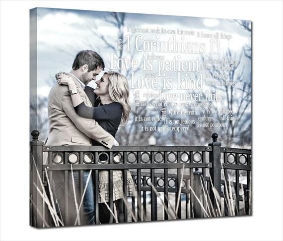 5 Wedding Canvas Ideas (canvas by Geezees via EmmalineBride.com) #handmade #wedding #gifts