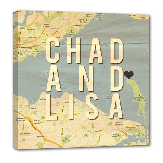 5 Wedding Canvas Ideas (canvas by Geezees via EmmalineBride.com) #handmade #wedding #gifts