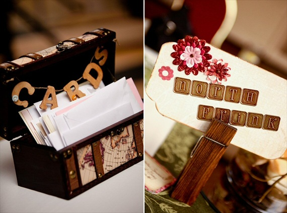 Vintage Fall Wedding - vintage card box