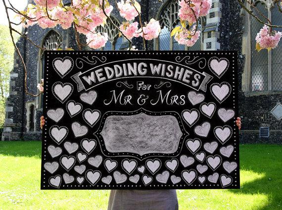wedding chalkboard guest book