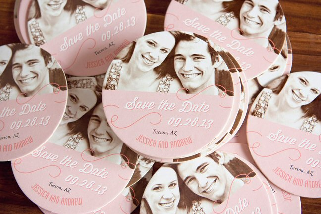 wedding coasters personalized with photo