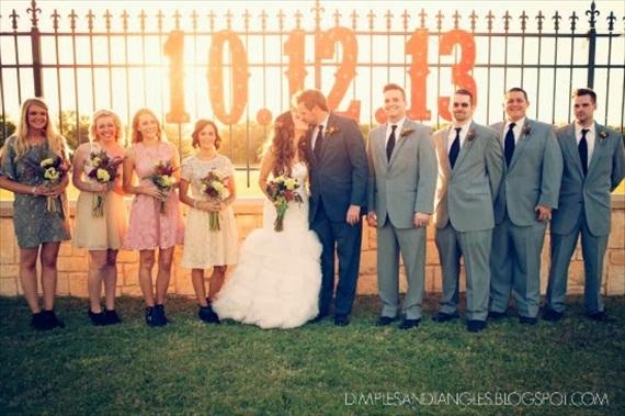 wedding date marquee lights
