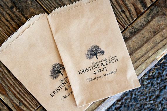 wedding favor bags kraft (by mavora art and design)