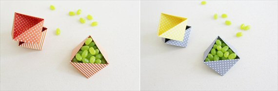wedding favor containers - hexagon box
