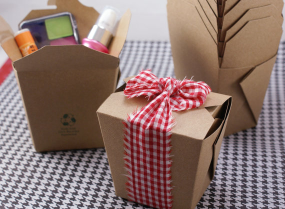 wedding favor takeout boxes