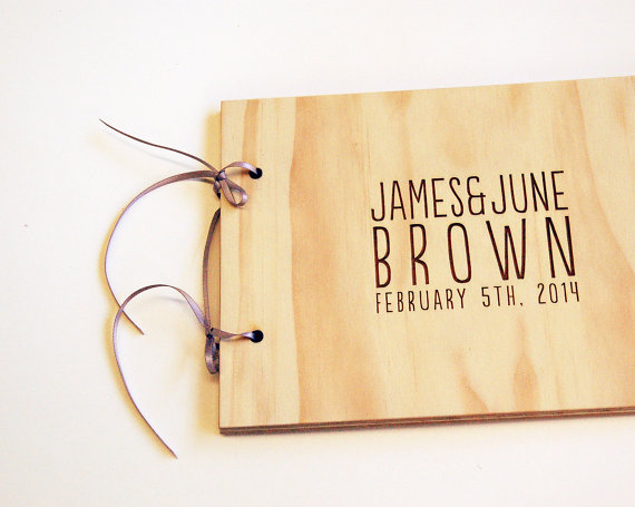 Engagement Gift Ideas (by Lorgie) - personalized guest book #wedding #engagement
