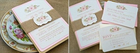 wedding invitation shabby chic - Invitations for Wedding Themes