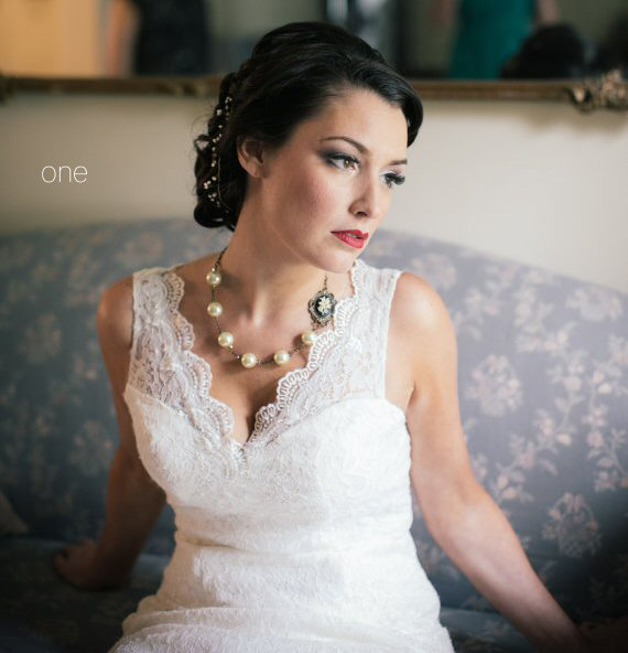 wedding pearl necklace - 1