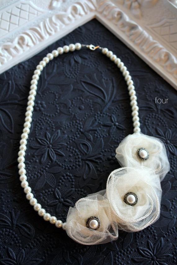 wedding pearl necklace - 4
