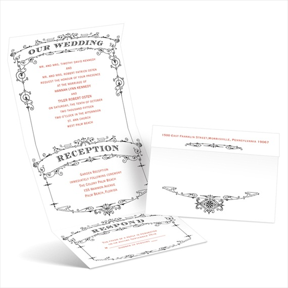 wedding playbill - seal and send invitations