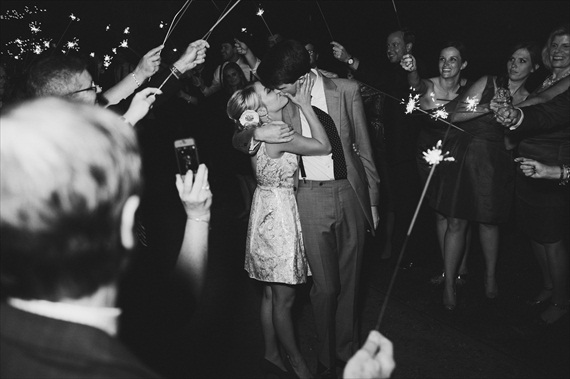 7 Wedding Sparkler Mistakes to Avoid via EmmalineBride.com - photo by michelle gardella